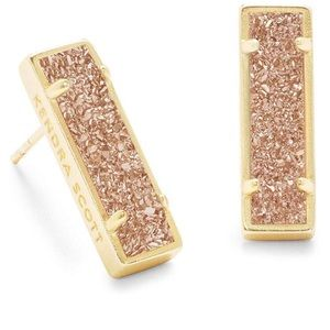 Kendra Scott loade sand druzy gold stud earrings